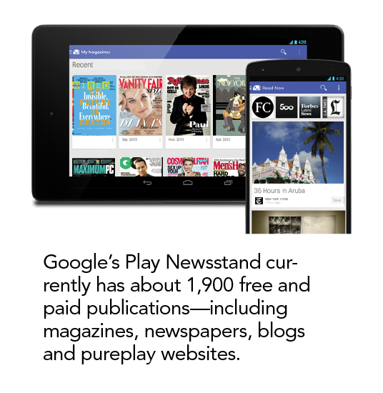 AD Google Play Newsstand for Android, an Antidote to Flipboard?