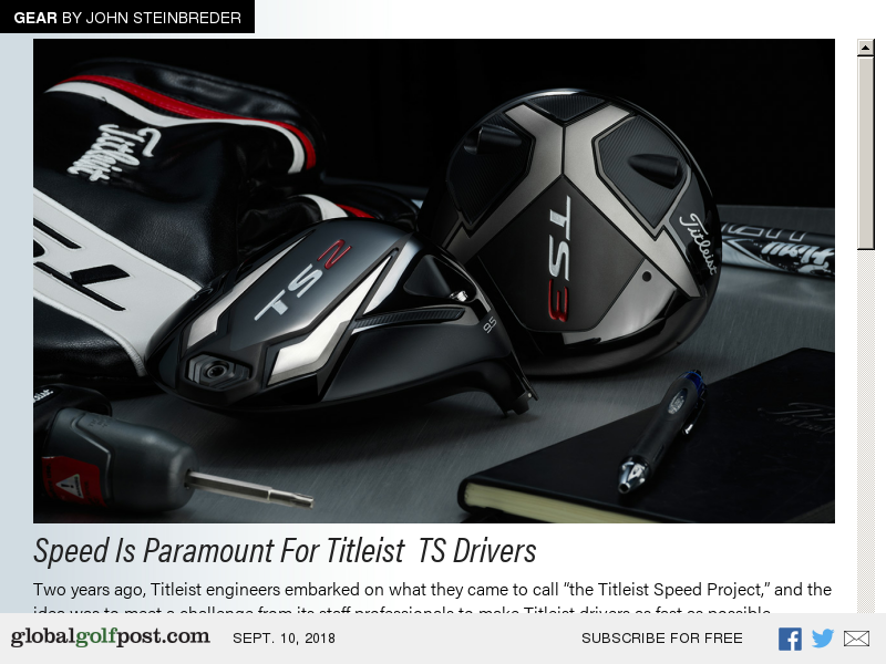 Titleist Produces Fastest Driver Yet