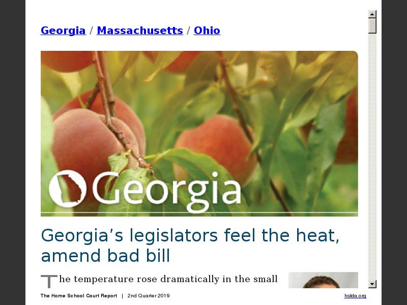 Georgia/Massachusetts/Ohio