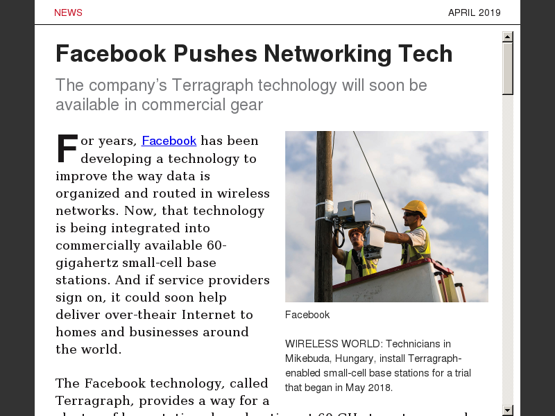 Facebook Pushes Networking Tech