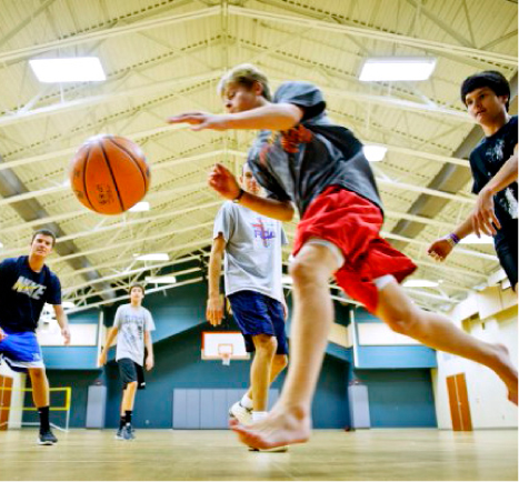 Local church gym is open to shoot hoops for How much is it to build a basketball gym