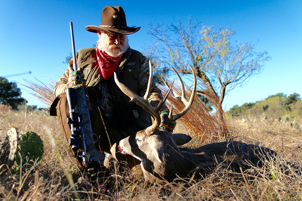 2c84f8c3f78 Larry Weishuhn with the wide 9-point he took on Sandstone Mountain Ranch.