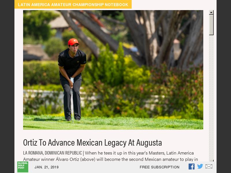 Perennial Contender Ortiz Finally Wins Latin America Amateur