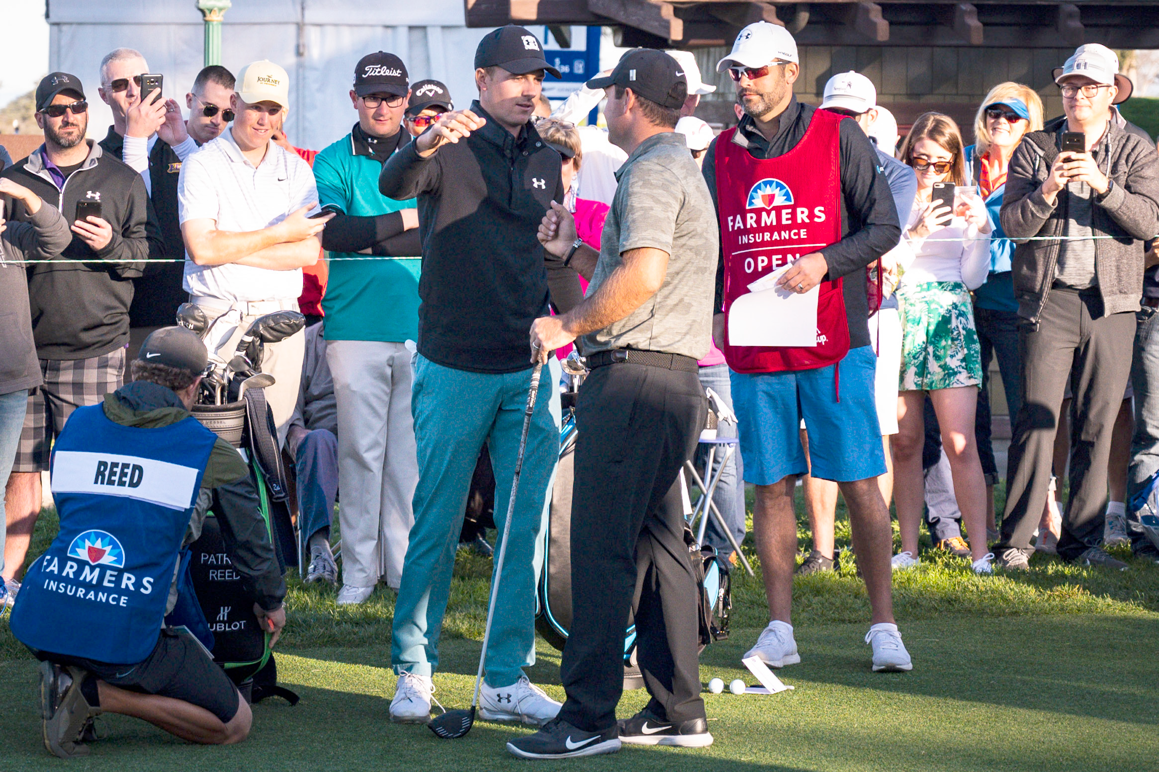 63d98f3a96c7 Spieth And Reed Signal Peace With Snarky Embrace