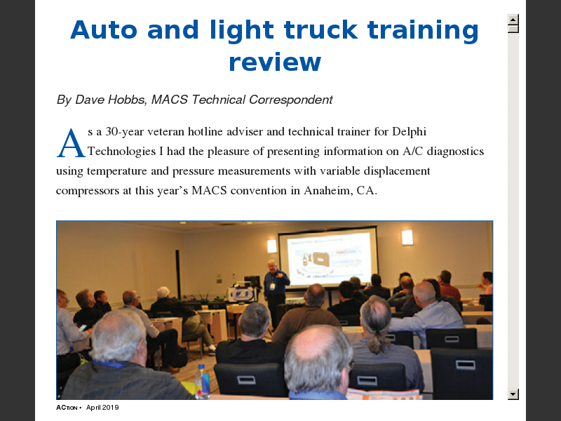 Heavy duty truck and off-road training digest